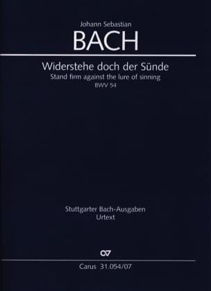 Cantate BWV 54 - Conducteur Poche BACH Partition laflutedepan