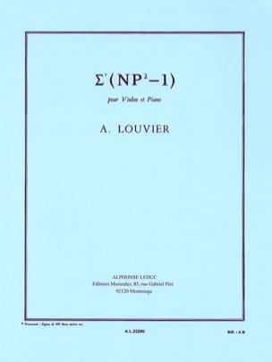 Alain Louvier - Sigma Np2-1 - Partition - di-arezzo.fr