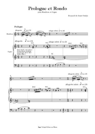 Prologue et Rondo - Vaulry Bernard de Saint - laflutedepan.com