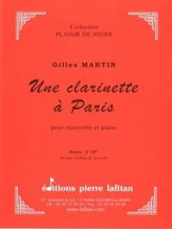 Une Clarinette à Paris Gilles Martin Partition laflutedepan