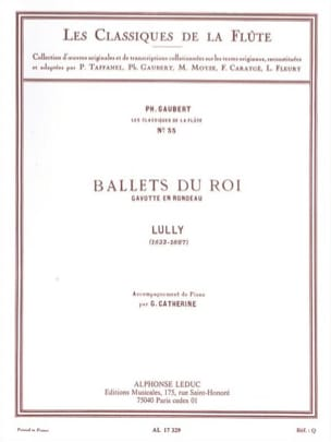 Jean-Baptiste Lully - Ballets of King Gavotte in Rondeau - Piano Flute - Sheet Music - di-arezzo.com