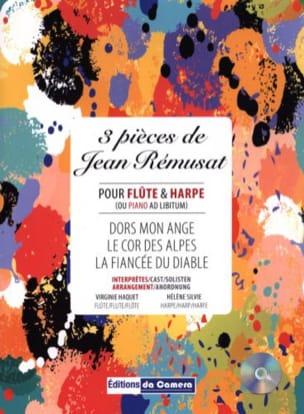 3 Pièces - Flûte et Harpe - Jean Remusat - laflutedepan.com