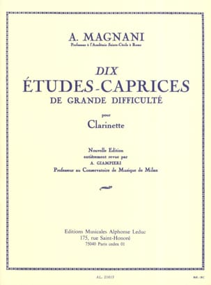 A. Magnani - 10 Studies-caprices - Sheet Music - di-arezzo.co.uk