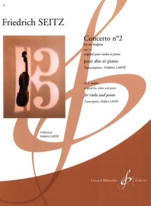 Concerto n° 2 - Alto et Piano Friedrich Seitz Partition laflutedepan