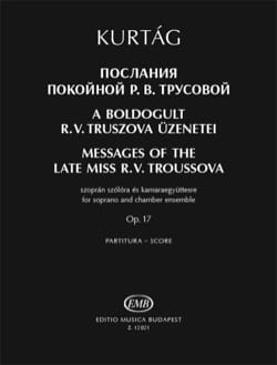 Messages of the Late Miss R. V. Troussova KURTAG laflutedepan
