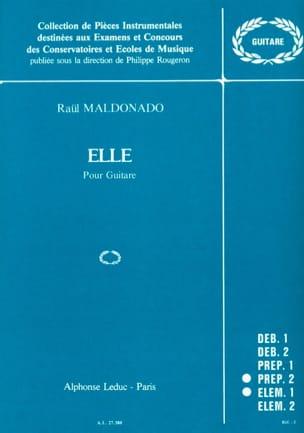 Elle Raul Maldonado Partition Guitare - laflutedepan