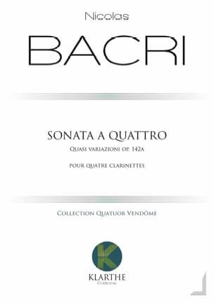 Nicolas Bacri - Sonata at Quattro - Sheet Music - di-arezzo.co.uk