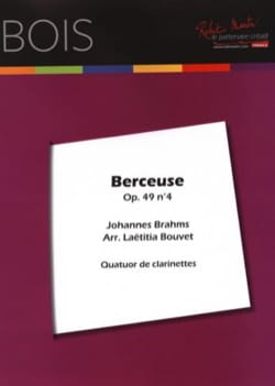BRAHMS - Berceuse - 4 Clarinettes - Partition - di-arezzo.fr