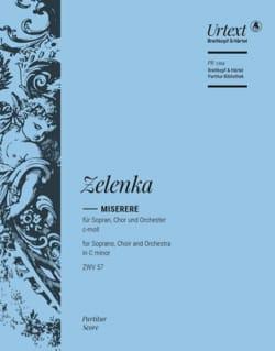 Jan Dismas Zelenka - Miserere - Conducteur - Partition - di-arezzo.fr