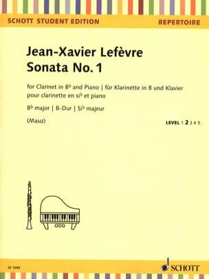 Sonate n° 1 - Clarinette et Piano Jean Xavier Lefèvre laflutedepan