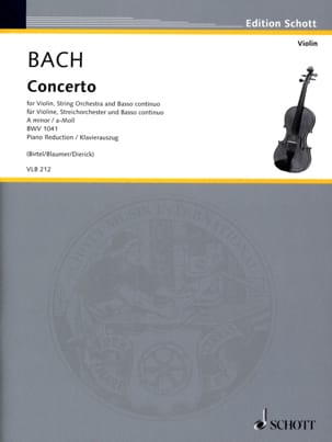 BACH - Concerto BWV 1041 - Violin and Piano - Sheet Music - di-arezzo.com