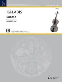 Viktor Kalabis - Sonate - Alto et Piano - Partition - di-arezzo.fr