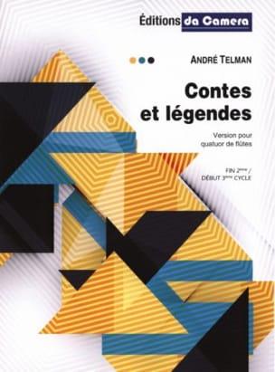 Contes et Légendes - 4 Flûtes André Telman Partition laflutedepan