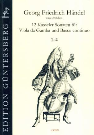 HAENDEL - 12 Sonates 1-4 - Viola da gamba and BC - Partition - di-arezzo.fr