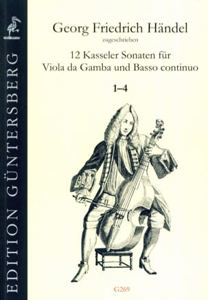 HAENDEL - 12 Sonatas 1-4 - Viola da gamba and BC - Sheet Music - di-arezzo.com