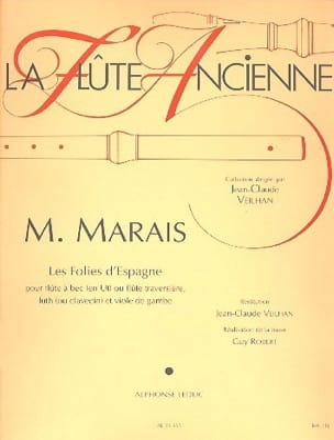 Marin Marais - Folies d'Espagne - flûte à bec, luth et viole - Partition - di-arezzo.fr