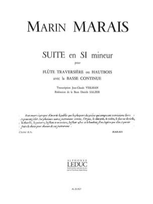 Suite en si mineur - Flûte et Bc Marin Marais Partition laflutedepan