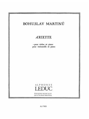Bohuslav Martinu - Arlette - Sheet Music - di-arezzo.co.uk