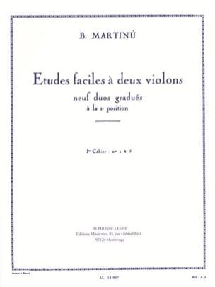 Etudes faciles à 2 violons - Volume 1 Bohuslav Martinu laflutedepan