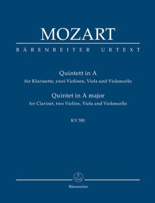MOZART - Quintett for Klarinette, 2 Violinen, Viola Und Violoncello. Urtext. - Sheet Music - di-arezzo.co.uk