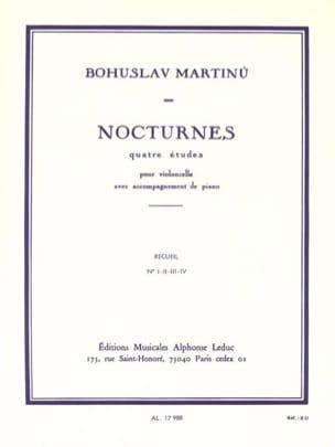 Nocturnes - Recueil MARTINU Partition Violoncelle - laflutedepan
