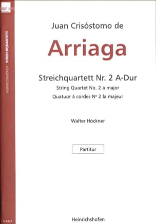 Juan Crisostomo de Arriaga - String Quartet No. 2 - Conductor - Sheet Music - di-arezzo.co.uk