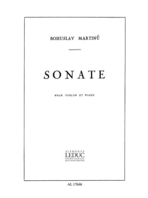 Bohuslav Martinu - Sonate - Violin - Sheet Music - di-arezzo.co.uk