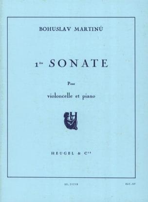 Sonate n° 1 - Violoncelle - MARTINU - Partition - laflutedepan.com