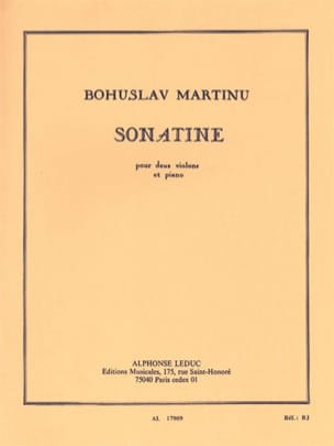 Bohuslav Martinu - Sonatine for 2 violins and piano - Sheet Music - di-arezzo.com