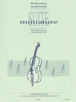 Bohuslav Martinu - Miniature Suite - Sheet Music - di-arezzo.co.uk