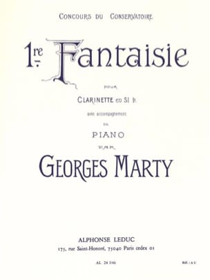 Georges Marty - Fantaisie n° 1 - Partition - di-arezzo.fr