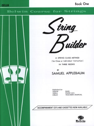 Samuel Applebaum - String Builder Violoncelle Volume 1 - Partition - di-arezzo.fr