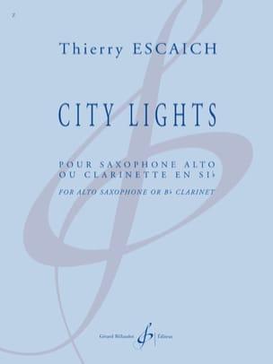 City Lights Thierry Escaich Partition Clarinette - laflutedepan