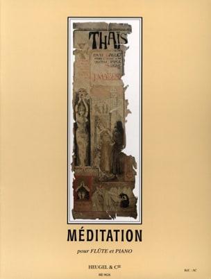 Méditation de Thaïs - Flûte Jules Massenet Partition laflutedepan
