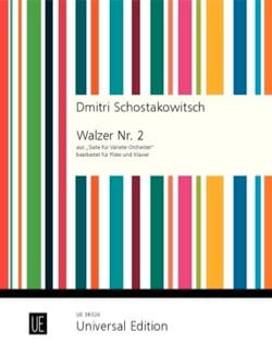 Valse n° 2 - Flûte et Piano - CHOSTAKOVITCH - laflutedepan.com