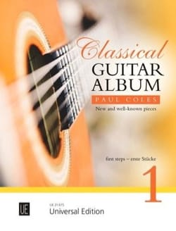 Classical Guitar Album 1 Paul Coles Partition Guitare - laflutedepan