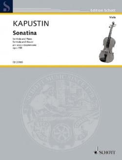 Nikolai Kapustin - Sonatine, op. 158 - Alto et Piano - Partition - di-arezzo.fr