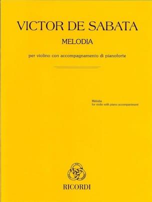 Victor de Sabata - Melody - Violin and Piano - Sheet Music - di-arezzo.com