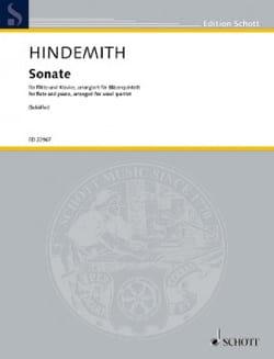 Sonate - Quintette à Vents HINDEMITH Partition laflutedepan