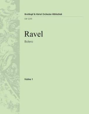Boléro RAVEL Partition MATÉRIELS D'ORCHESTRE - laflutedepan