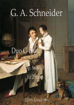 Duo, op. 56 n° 1 - 2 Flûtes Georg Abraham Schneider laflutedepan