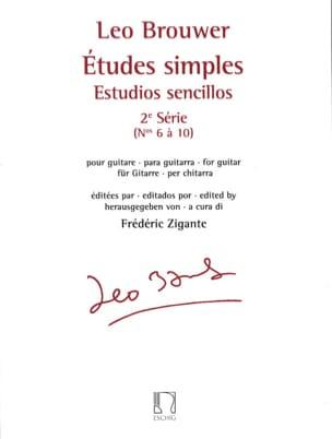 Leo Brouwer - Studi semplici - 2a serie - Partitura - di-arezzo.it