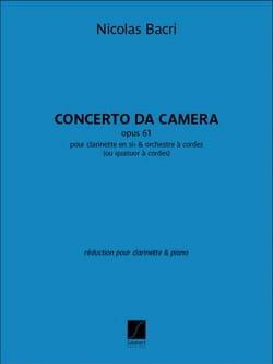 Concerto da Camera - Clarinette et Piano Nicolas Bacri laflutedepan