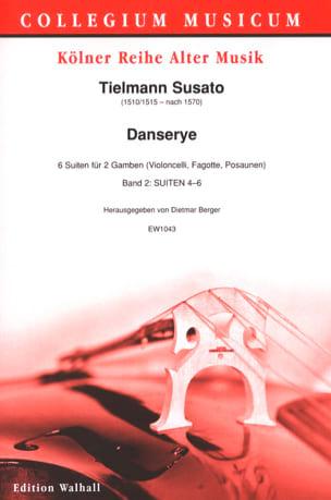 Tielman Susato - Danserye Vol. 2 - 2 Violes de Gambe - Partition - di-arezzo.fr