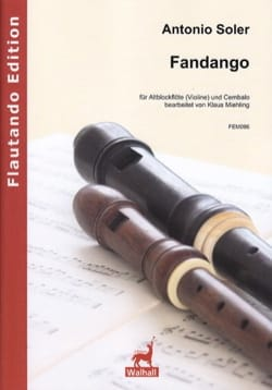 Antonio Soler - Fandango - Alto Recorder and Harpsichord - Sheet Music - di-arezzo.com