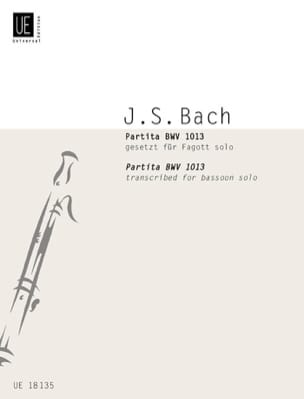 BACH - Partita BWV 1013 - Fagott Solo - Sheet Music - di-arezzo.co.uk