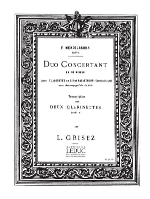 MENDELSSOHN - Concerto Duo op. 114 d minor - Sheet Music - di-arezzo.com