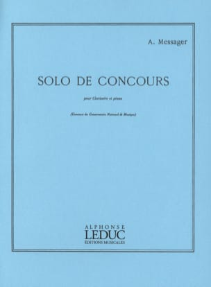 André Messager - Solo of Competition - Sheet Music - di-arezzo.com