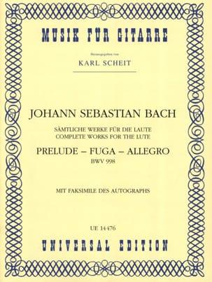 BACH - Preludio - Fuga - Allegro BWV 998 - Gitarre - Partitura - di-arezzo.it