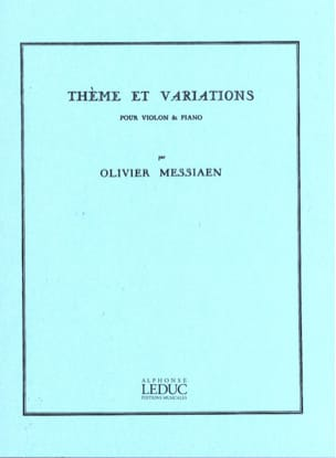 Olivier Messiaen - Theme and Variations - Sheet Music - di-arezzo.co.uk
